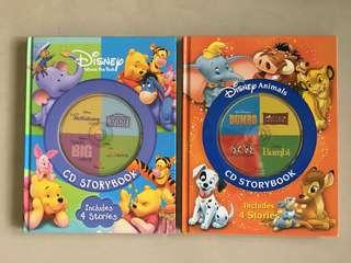 2 lovely Disney story books with audio CDs