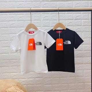 韓國版小童the north face t-shirt