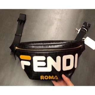 FENDI Multicolour canvas belt bag 經典立體logo 腰包 兩色