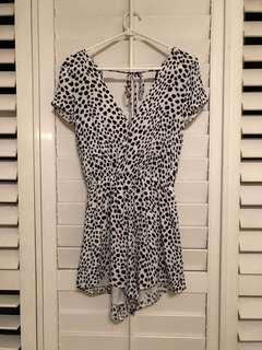Paper Closet pebble print low-back playsuit size 6