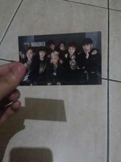 Wts bts official photocard dark and wild group
