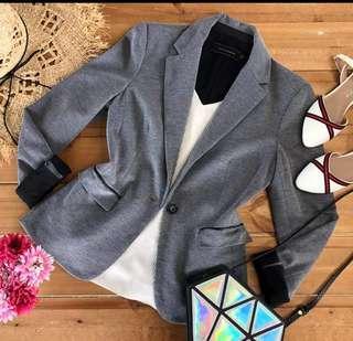 Branded gray & black blazer
