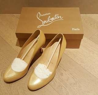 Christian Louboutin 85 Patent Calf Leather Pumps/ heels/ shoes