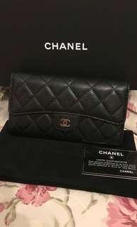 Chanel 牛皮 荔枝皮Long wallet