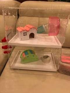 🚚 Acrylic hamster cage
