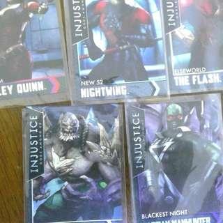 Injustice arcade cards