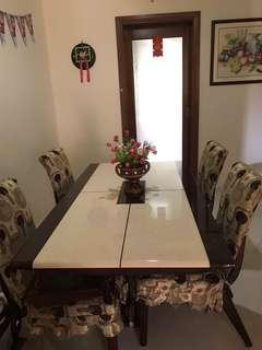🚚 Dinning Table Marble Top
