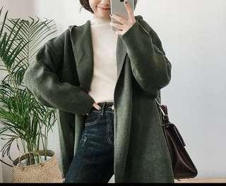 連帽針織外套