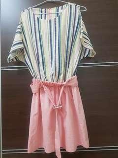 一件式洋裝(附腰帶)