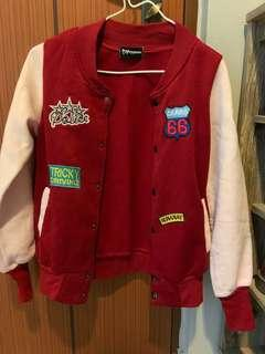 🚚 RED Patch Baseball Jacket