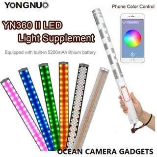 Yongnuo YN360II portrait led light stick YN-360 II color adjustable RGB photography LED video lights wedding lighting