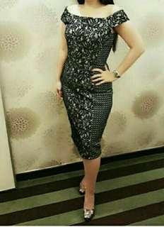 Off Shoulder Bodycon  Lace Dress