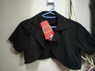 全新兒童黑色休閒小外套
