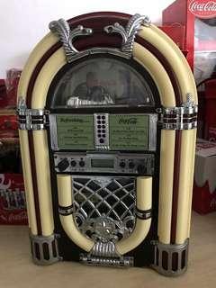 Coca cola 可口可樂 可樂迷 音響機 唱片機