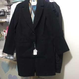 全新 Moussy SLY 黑色大褸 外套