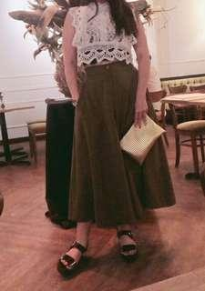 Lace crop top and high waist wide leg pants
