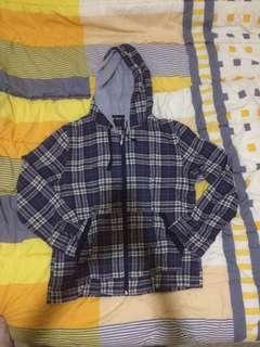 Jacket hoodie kotak