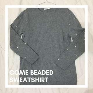 Come beaded sweatshirt