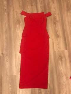 🚚 $200 NEW! Red off-shoulder gown (UK10)