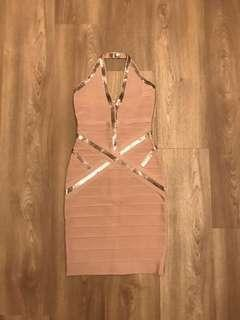 🚚 $150 NEW! Pink bodycon bandage dress (uk8)