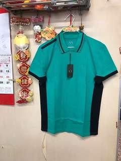 Men's AX knitted polo shirt