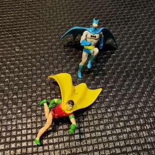 Batman & Robin set of 2 ornaments by Hallmark  year 1999