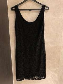 Warehouse classic black lace dress (uk10)