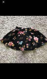 Black Floral Skirt for Baby