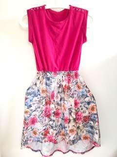 Flower pink dress 小童裙 #kids300