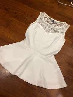 white hnm premium top