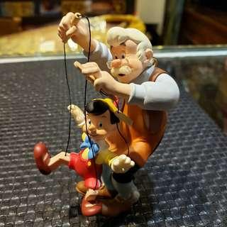 Disney Pinocchio and Geppetto Figurine  By Hallmark  Year 1999