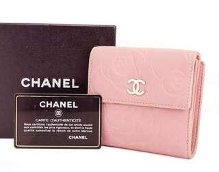 Authentic CHANEL Camellia Pink Bifold Wallet