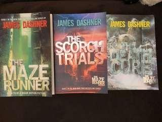 The Maze Runner series Dystopian Novels