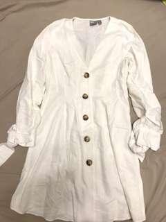 Asos白色氣質連身裙(著過1次)