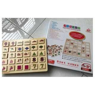 Right Brain Memory Game Wooden 80pcs