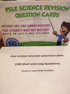 PSLE Science Revision Questions Card (100 questions)