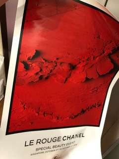chanel poster ( like a sticker but big size )