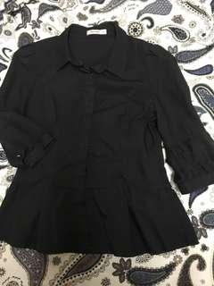 Black Peplum shirt