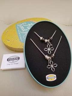 Fossil 頸鏈手鏈套裝 necklace and bracelet