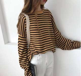 Retro long sleeves sweater