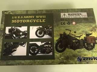 1/6 US Army WWII Motorcycle ZYToys