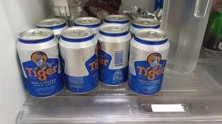 8 cans of chilled Tiger beer