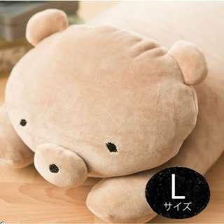「月薪嬌妻」推薦系列 全新 宇宙人【MOCHIKUMA】懶人麻吉熊抱枕-L號 咖啡色