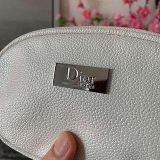 💯Dior Authentic Pouch White Color