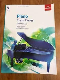 19-20鋼琴三級考試琴書