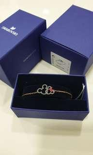 Swarovski mickey and minnie bracelet (Preloved)