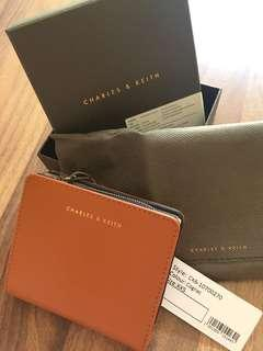 Charles and Keith Chocolate Small Folded Wallet