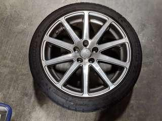 Audi TT 18' rims with Michelin tyres