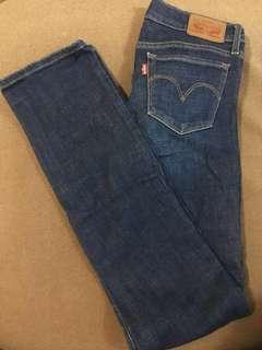Levi's Blue Jeans 714 Straight Cuts