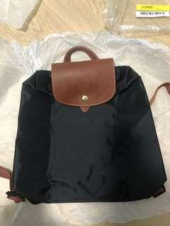 100%new longchamp le pliage backpack black classic nylon 黑 背包 背囊